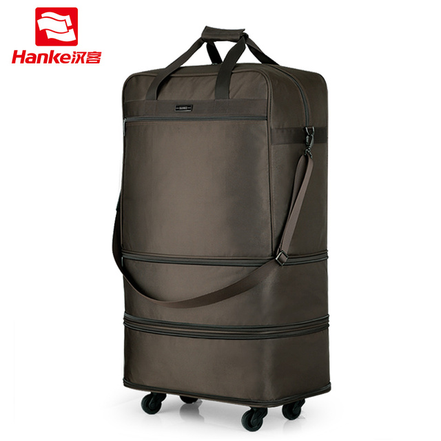 d00149b5fa3c US $71.16 39% OFF|Foldable Luggage Garment Bag Spinner Wheels Men Women  Expandable Suitcases Male Super Large Travel Bag Duffel Tote-in Suitcases  from ...