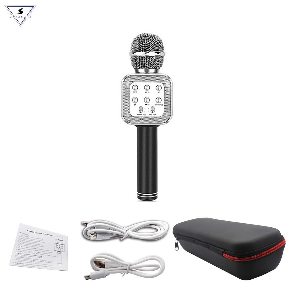 WS-1818 KTV Wireless Bluetooth Handheld Microphone With Protection Box For Oneline Versio Classroom Teacher Eg. VIPkids Pk Wster