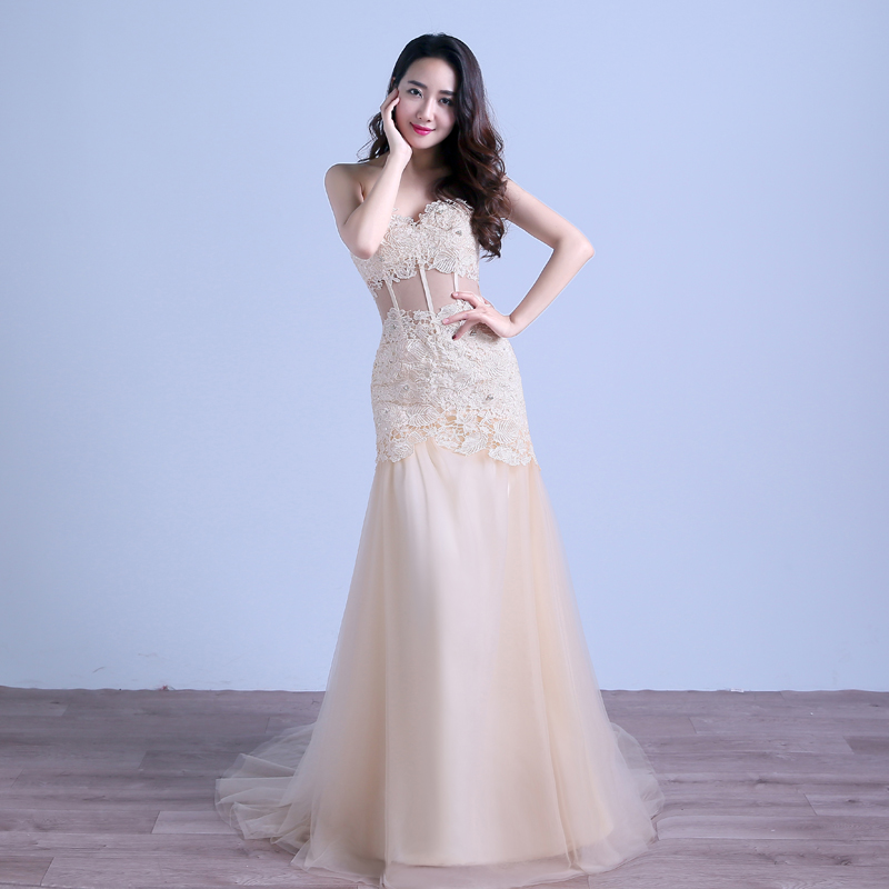Super Sexy Lace Long Mermaid Prom Dresses Slits Fast Shipping New