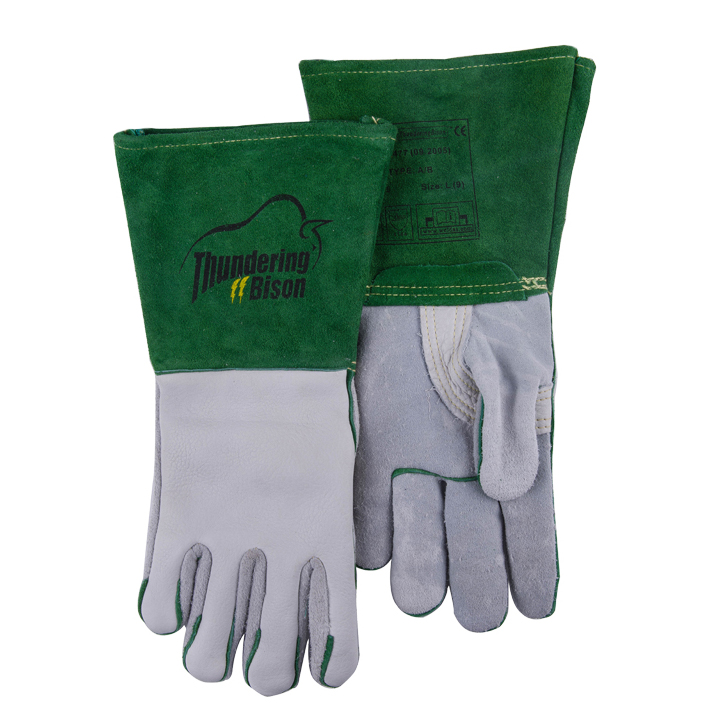 Grain Cow Leather Safety Glove Argon Arc Welder Glove Buffalo TIG MIG Leather Welding Work Gloves