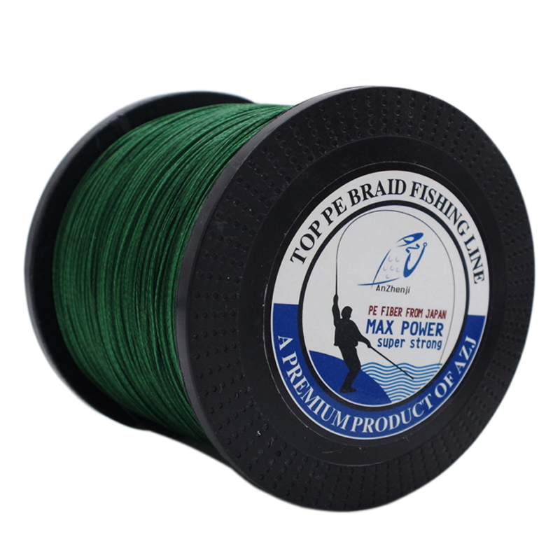 Azj new braid line top 1000m 8 strands super strong for Best braided fishing line