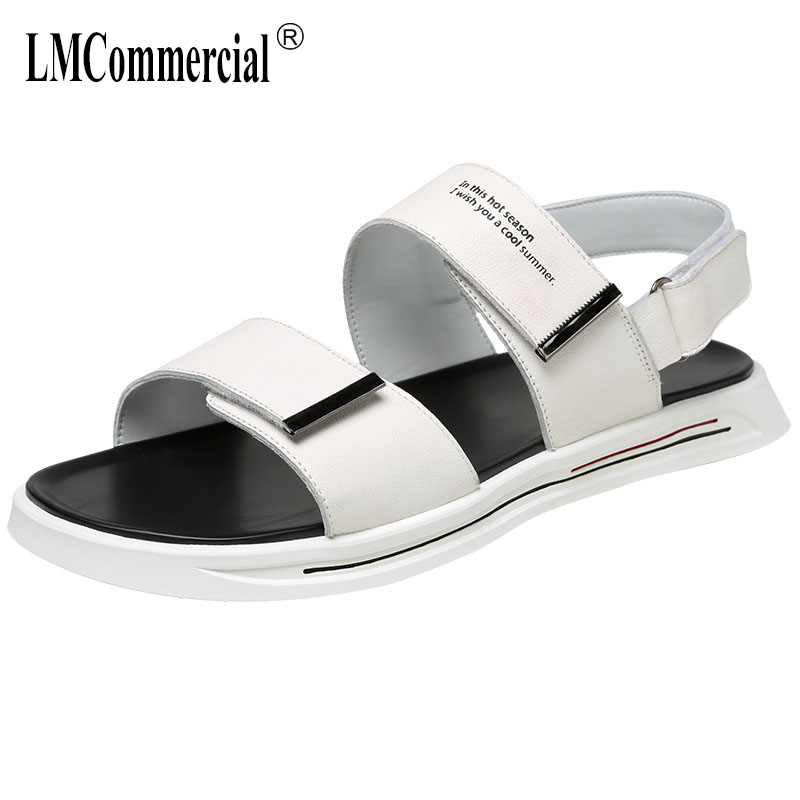 Summer Slippers Mens Fashion real Leather Outside Fashion New Anti-skid Sneakers Men Flip Flops casual Shoes male beach outdoorSummer Slippers Mens Fashion real Leather Outside Fashion New Anti-skid Sneakers Men Flip Flops casual Shoes male beach outdoor