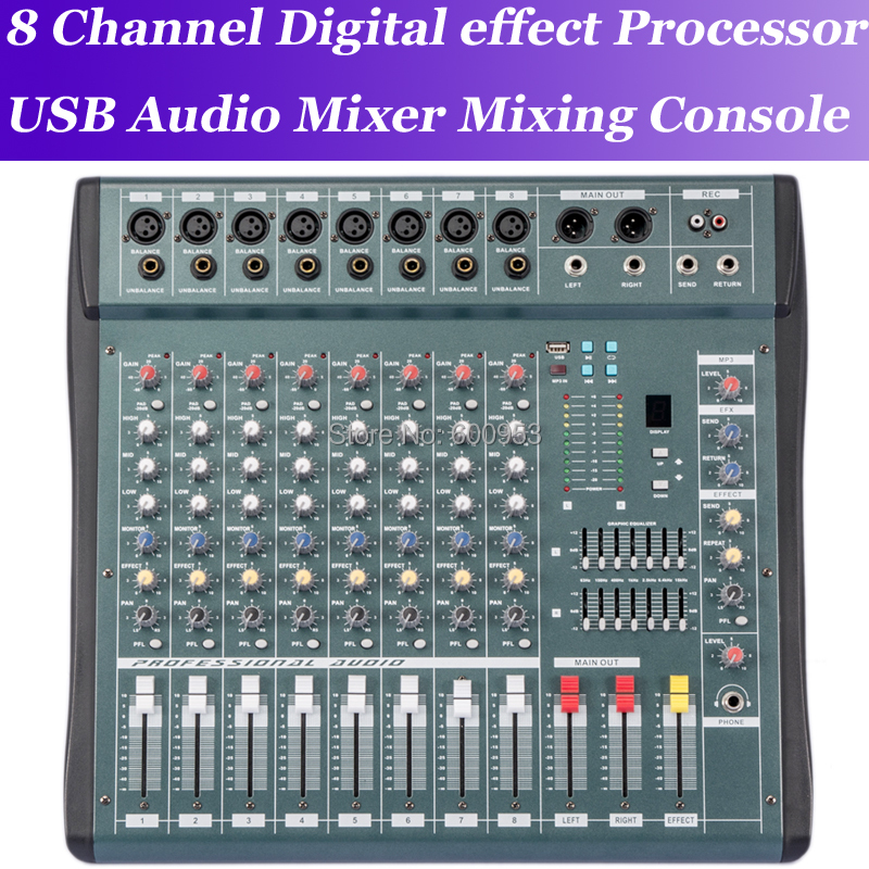 MiCWL 8 Channel Pro Digital effect processor Audio Sound Mixer Mixing Console Processador de efeitos digitais Console de mistura professional 4 channel live mixing studio audio sound console network anchor portable mixing device vocal effect processor