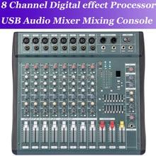 MiCWL 8 Canais Pro processador de efeitos de Áudio de Som Mixer Console de Mixagem Digital Processador de efeitos digitais Console de mistura
