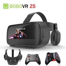 BOBOVRZ5 120 FOV 3D Cardboard VR Remote Helmet Virtual Reality Glasses VR Headset Googles glasses for