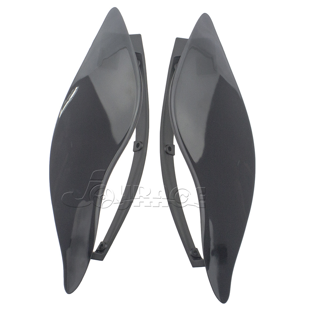 Smoke Upper Outer Fairing Side Wings Air Deflectors For Harley Touring 2014-2016