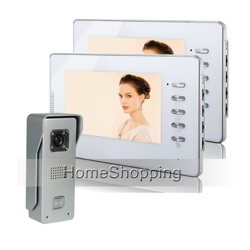 FREE SHIPPING Home Wired 7 inch Video Intercom Door Phone Unlock System + 2 White Monitors 1 Watrproof Doorbell Camera In Stock free shipping 10pcs ad9850brs in stock