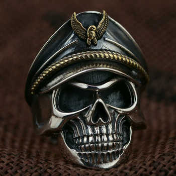 Classic Gothic Skull Men Ring Anniversary Ring Black Punk Rock Rings for Women Fashion Jewelry Anillos Mujer Wholesale F5X291 1