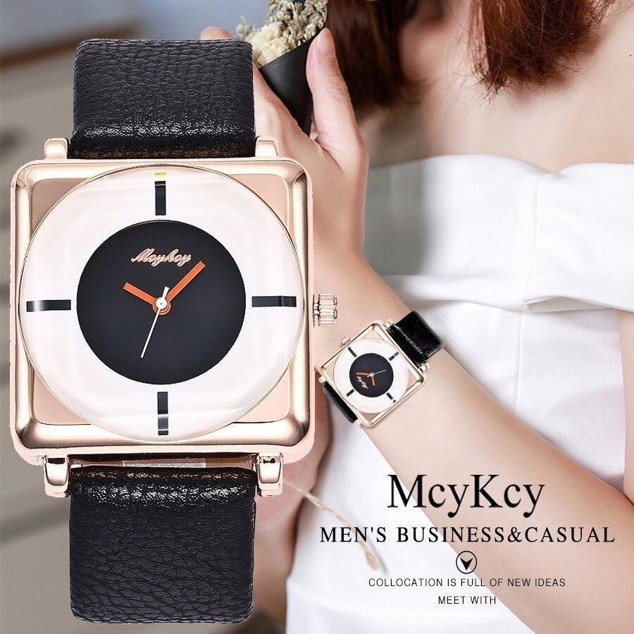 McyKcy Watch Top Brand Luxury Women Fashion Casual Quartz Watch For Women's Leather Strap Dress Wristwatches Relogio Feminino top fashion leather strap quartz watch for women