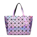 Hot Sale Laser BaoBao Bag Women Dazzle Color Plaid Tote Casual Bags Female Fashion Handbags Sequins Mirror Saser Bag Bao Bao Bag