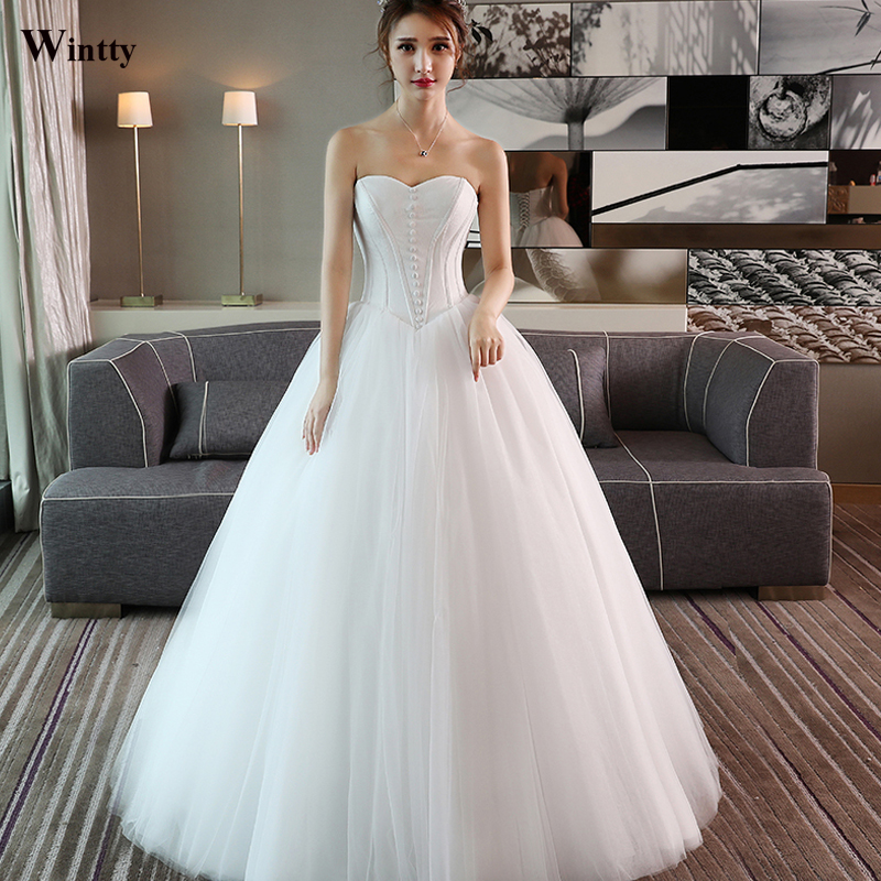 Wintty 2017 White Lace Wedding Dress Simple In Stock Sexy