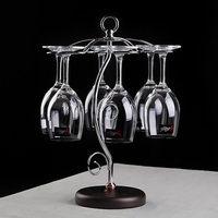 Electroplated european style wine glass holder,goblet upside down hanging holder