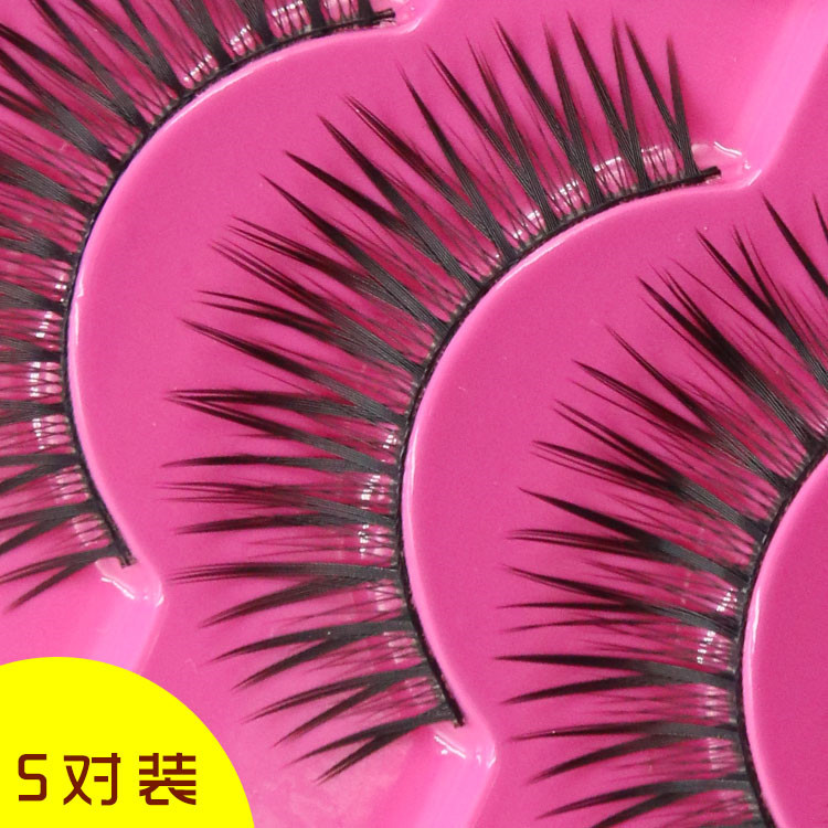5 pairs natural simulation cross section specializing in the production of false eyelashes