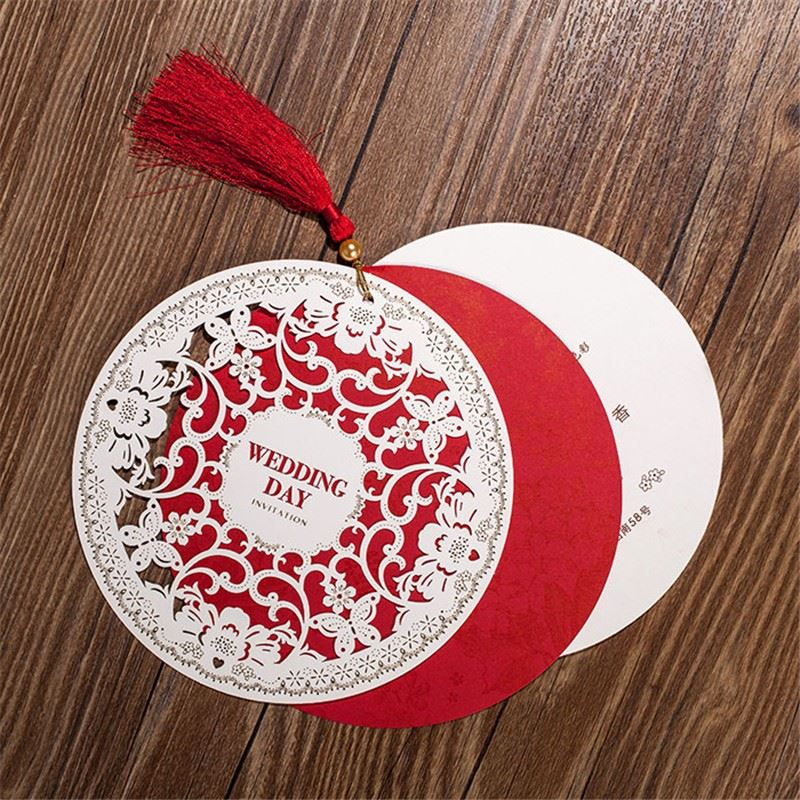 Clearance Wedding Invitations Card Chinese Style Diameter Fl Design Envelope Pure Love Elegant Round Party Supplies On Aliexpress Alibaba