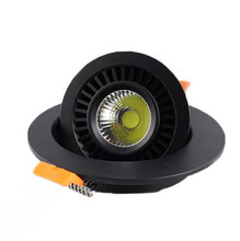 Wholesale Dimmable COB led Downlight 12W Recessed LED Ceiling light Spot Lamp 360 Degree Adjustable AC85-265V