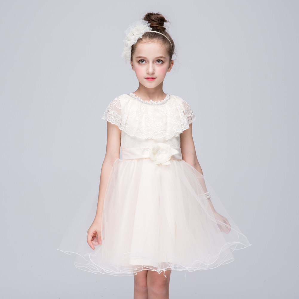 Designer Cape Dress Patterns Sleeveless Short Formal Party Girls Dresses Size 2 3 4 5 6 7 8 9 10 Year Old Girl Wedding Gowns