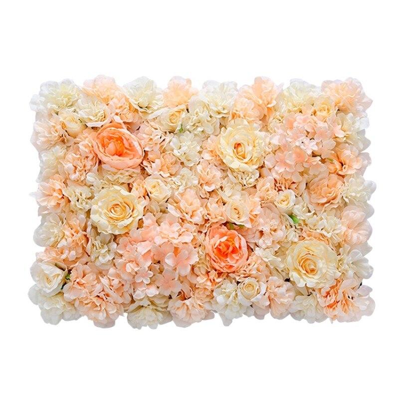 Hot Koop Upscale Wedding Achtergrond Centerpieces Bloem Panel Rose Hortensia Bloem Muur Party Decoraties Levert 24 stks/partij - 5