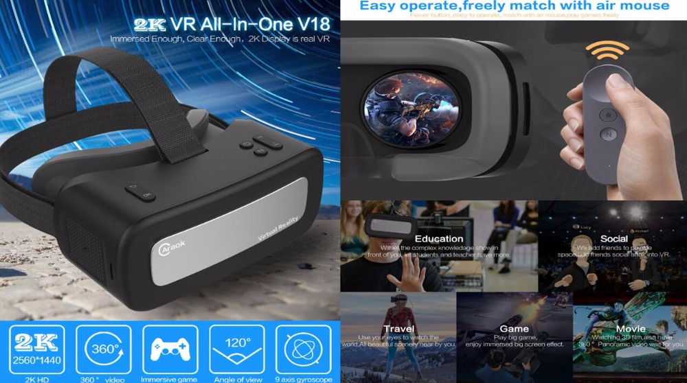 Caraok V18 3d Vr Headset All In One Virtual Reality Video Glasses