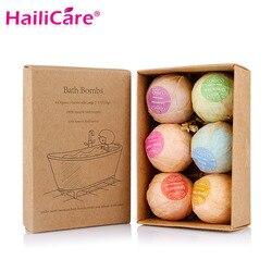 100 наборов органические шарики для ванны Пузырьковые соли для ванны мяч