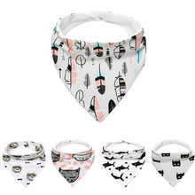 Baby Kids Cotton Bandana Bibs Feeding Saliva Towel Waterproof 1.927(China)