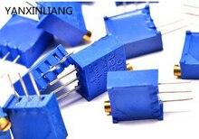 10 шт./лот 3296w-1-502lf 3296 Вт 502 5 k ом топ регулировка многооборотный триммер потенциометр высокоточный переменный резистор