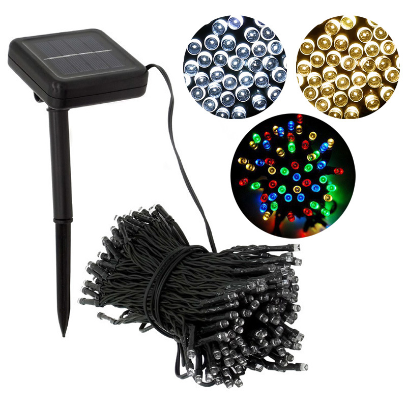 Decorative solar christmas lights 100 led modes fairy for Decorative patio lights