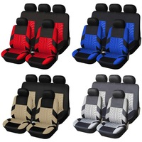General Comfortable 9PCS/SET Universal Car Seat Coves Mats Vehicles Seat Covers Non slip Car Interior Styling Seat Cover