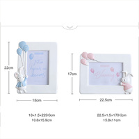 Creative Boys Girls Rabbit 6 Inch Children's Picture Frame Table Top Resin Art Picture Frame Home Decoration Family Ornaments