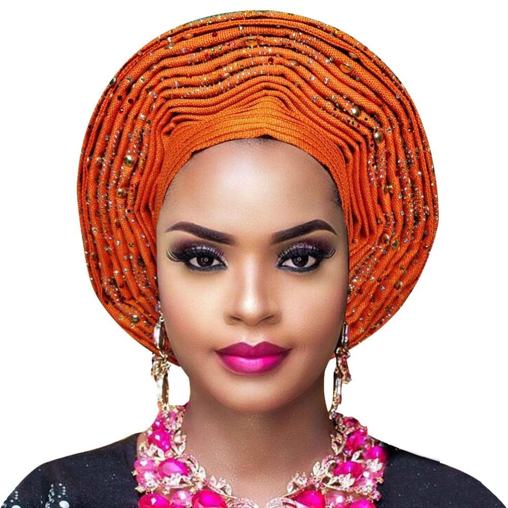 Aso oke gele african headtie nigerian headtie auto gele women headwrap lady wedding turban (6)