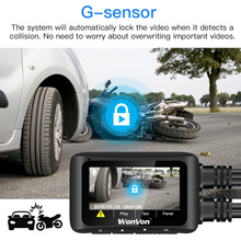 "WonVon MT1 WiFi Motorcycle GPS Dash Cam Sport Camera Dual Lens Full HD Motorbike DVR 2.7"" LCD Front &Rear 1080P Cam Waterproof"