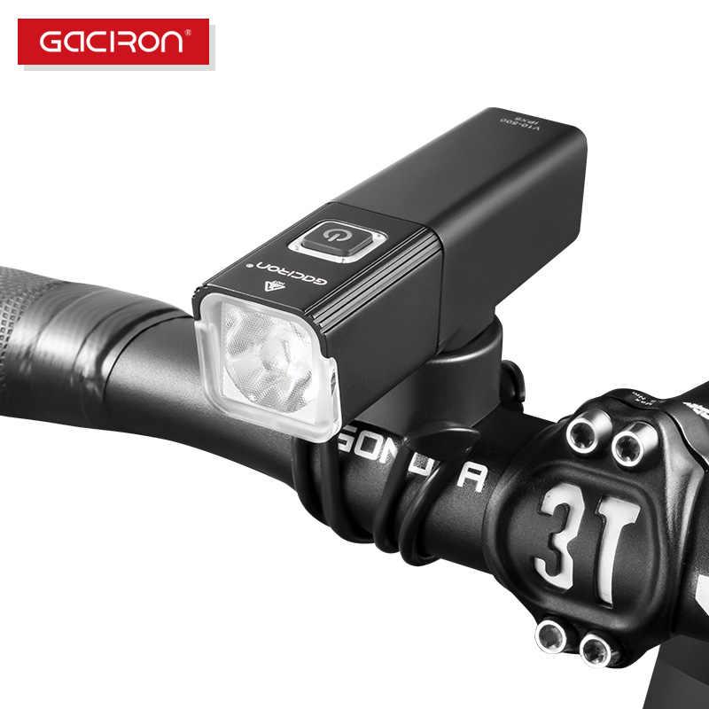 GACIRON 800 люмен велосипедный передний свет USB перезаряжаемый светодиодный фонарь Велоспорт Водонепроницаемый велосипед фары Аксессуары для фонарей