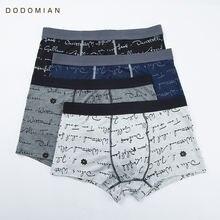 DO DO MIAN Men Underwear Boxer Cotton Short Boxer Men Soft Breathable Men Trunks Plus Size High Quality Boys Panties 4pcslot