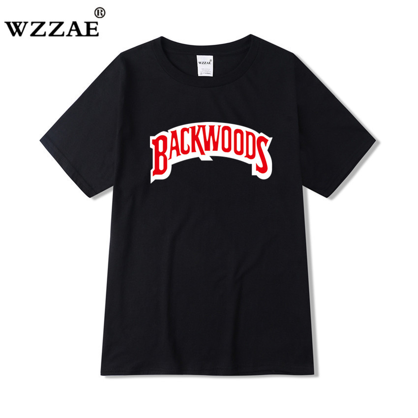 Backwoods   t     shirt   2019 New Summer Fashion Casual Cotton Round Neck Short-sleeved   T  -  shirt   Harajuku Hip-Hop   T  -  shirt   Swag   T     shirt