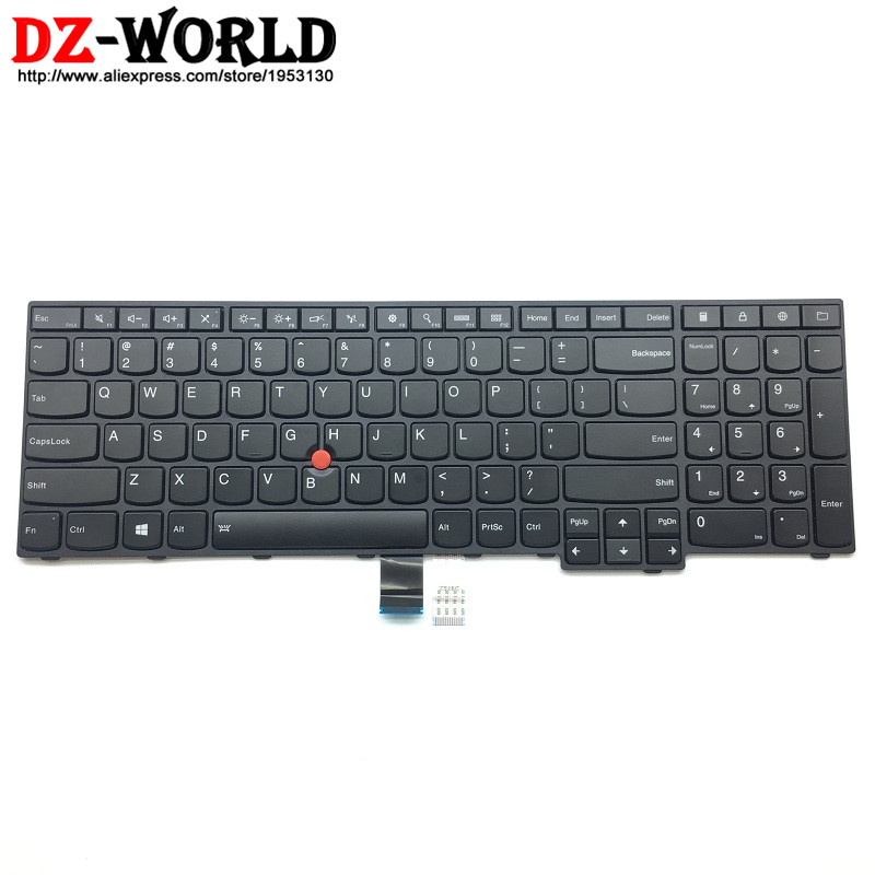New Original for Lenovo Thinkpad E560P S5 US English Backlit Keyboard Backlight Teclado 00UR628 00UR591 genuine new for lenovo thinkpad x1 helix 2nd 20cg 20ch ultrabook pro keyboard us layout backlit palmrest cover big enter