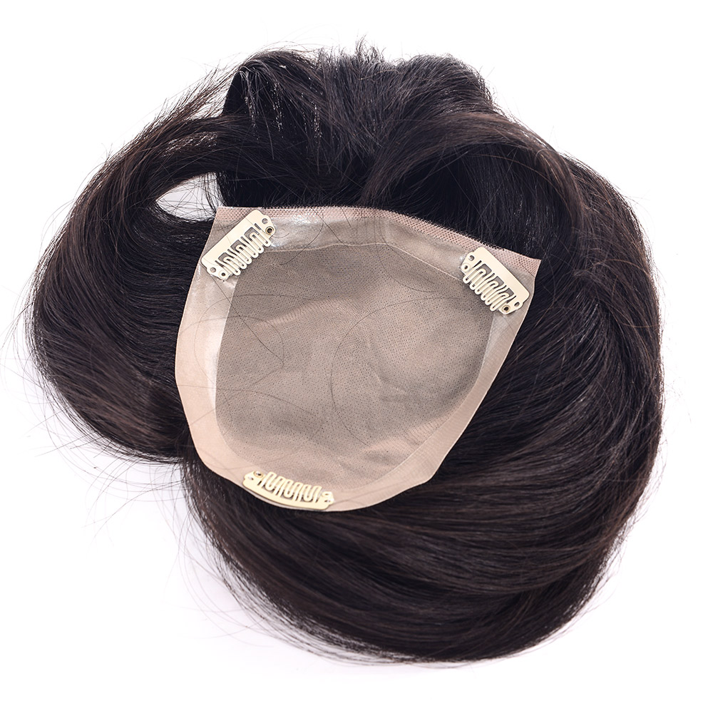 LADYSTAR Mono Top Hair Piece With Toupee Indian Remy Hair Comfortable Men Hair Wig ...