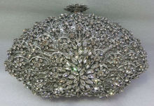 Free shipping !! B20,fashion top crystal stones ring clutches bags for ladies nice party bag