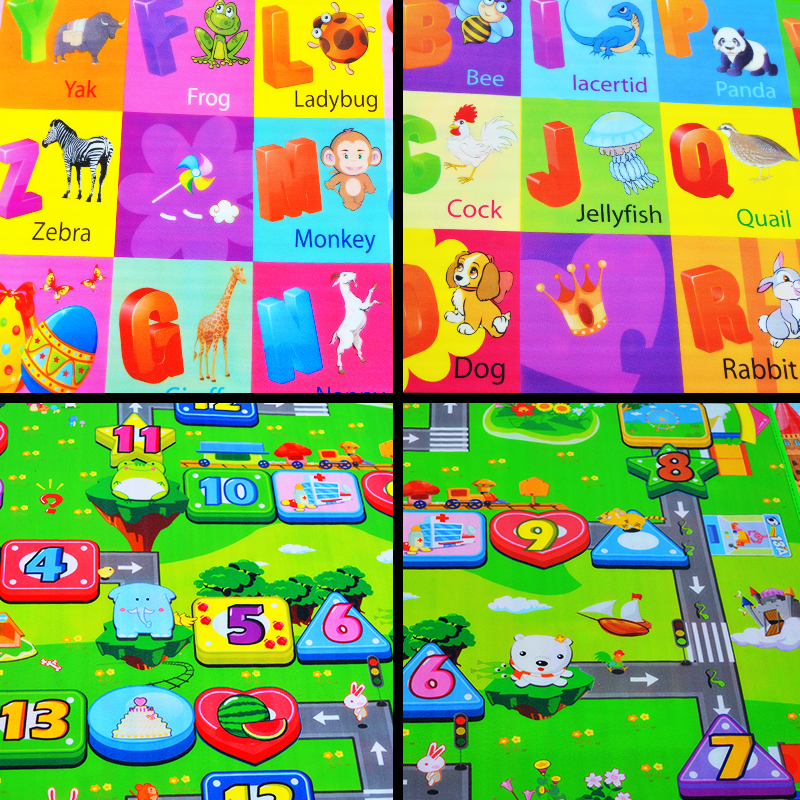 HTB1Napul5AnBKNjSZFvq6yTKXXaZ 0.5cm Thickness Children's Rug Baby Playing Mats Soft EVA Foam Double Side Patterns Child Carpets For Kids Crawling Gym Mats