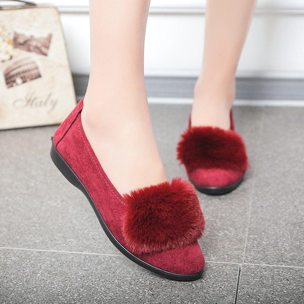 Fondo Plana Suave Llegada Muqgew Único Ocio Para Negro Mediana Señora De rojo Redonda Sólido Negro Zapato Plataforma Zapatos Punta Edad Nueva Mujer PZSqP6
