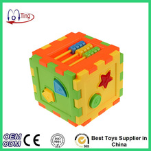 New and High Quality Square Building Blocks Cognitive Assembled Block Baby Kids Educational Toys
