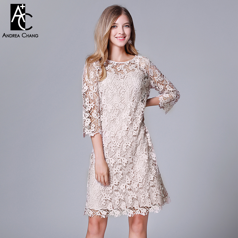 e62a56c1eb3 Плюс размер женское платье L-5XL Высокое качество Лето Весна платье  выдалбливают Бабочка узор вышивка
