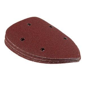 Image 5 - DRELD 10 pièces 90mm Delta tampons de papier de sable Triangle crochet boucle feuille de ponçage pour meulage polissage ponçage papier grain 80 120 180 240