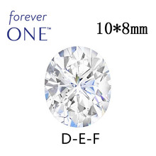 Certified 3CT Effect VVS VS DEF Oval Cut Colorless Charles Colvard Forever One Moissanite Loose Gems Stone Diamond Test Positive