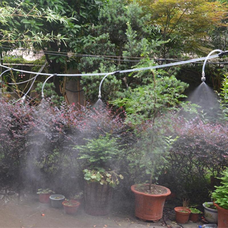 25 mt 4/7mm Schlauch tröpfchenbewässerung Garten Wasser Mikrobewässerung Rohr mit 10 stücke T Anschlüsse stacheldraht Luft Fittings