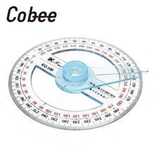 Cobee 360 градусный транспортир круглая линейка Edge Angle Finder датчик углового образования прозрачный чертежный транспортир