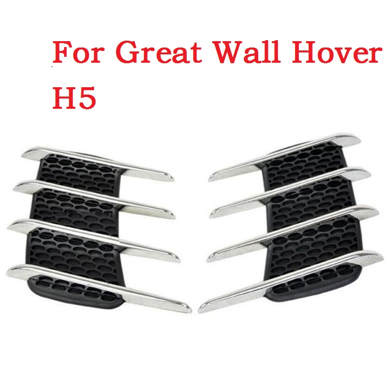 Auto Shark Gills Exterior Decor Side Air Intake Flow Grille Vent Outlet Decorative Modification stickers for Great Wall Hover H5 fashion letters and zebra pattern removeable wall stickers for bedroom decor
