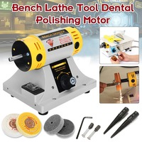 350W 220V Multi purpose Mini Bench Grinder Polishing Machine Kit For Jewelry Dental Jewelry Motor Lathe Bench Grinder Kit Set