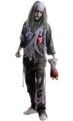New Halloween Costumes Man Horrible Zombie The Walking Dead Costumes on Sale Free Shipping