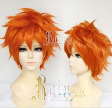 MISS 001323  High School Volleyball Club Hinata Shouyou Short Orange Wig