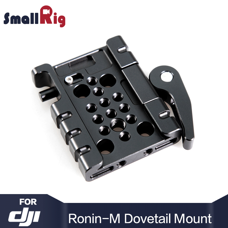 SmallRig Quick Release Baseplate For DJI Ronin-M Dovetail Mount With 1/4 3/8 Thread Mounts -1685
