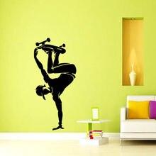 Free shipping DIY wallpaper Skateboard Skater Sports Vinyl Decal Wall Sticker Removable Home Decor Mural Art